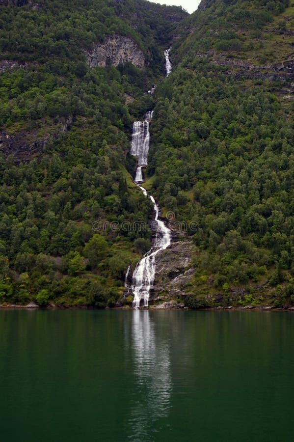 De daling van Noorwegen stock afbeelding