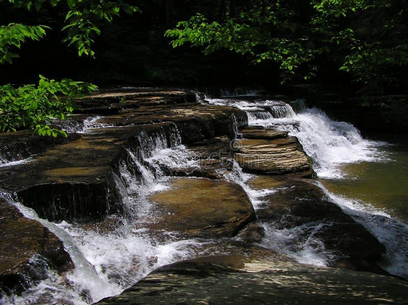 De Dalingen van de Kreek van Campbell, het Park van de Staat van de Kreek van het Kamp, West-Virginia royalty-vrije stock fotografie