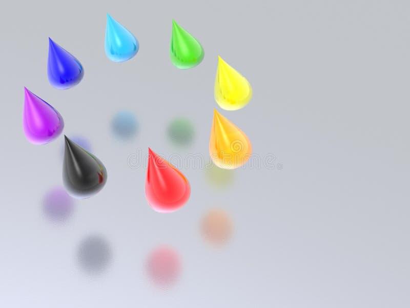 De dalingen van de regenboog royalty-vrije illustratie