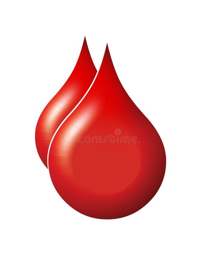 De dalingen van het bloed royalty-vrije illustratie