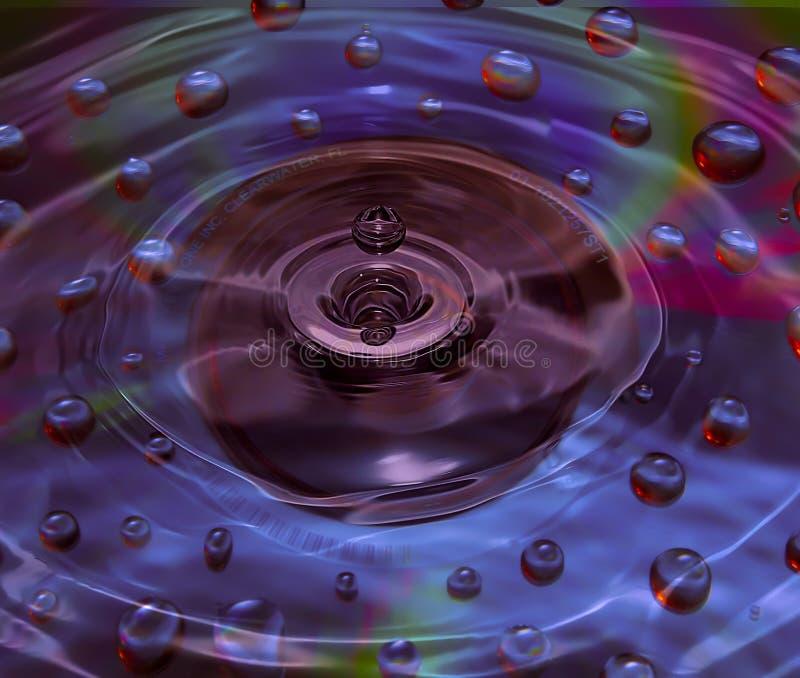 De dalingen van het water op CD royalty-vrije stock afbeeldingen