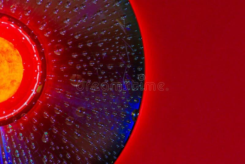 De dalingen van het water op CD royalty-vrije stock foto