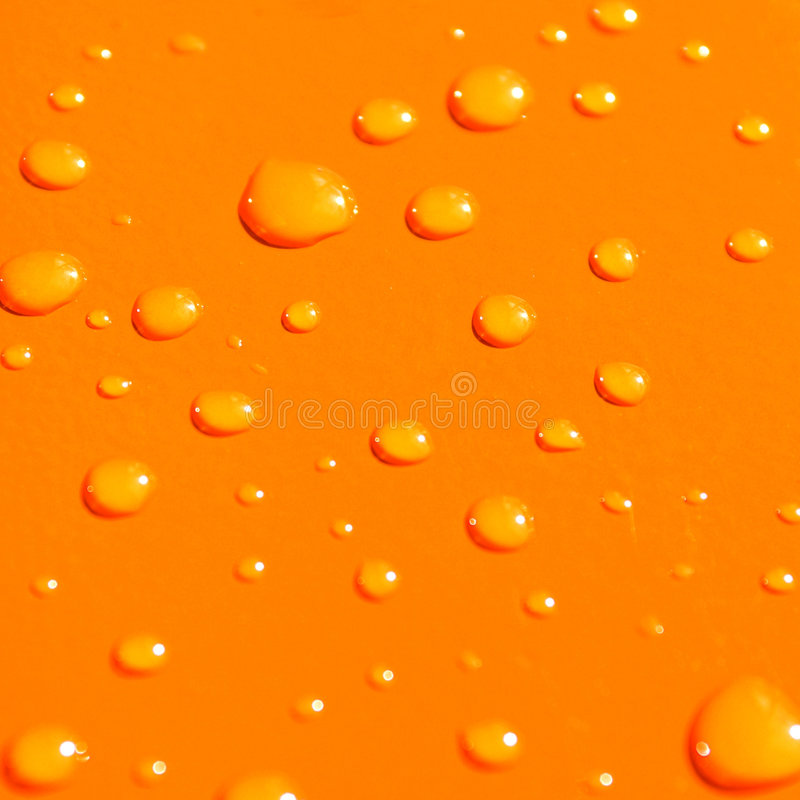 De dalingen van het water op oranje metaalba vector illustratie