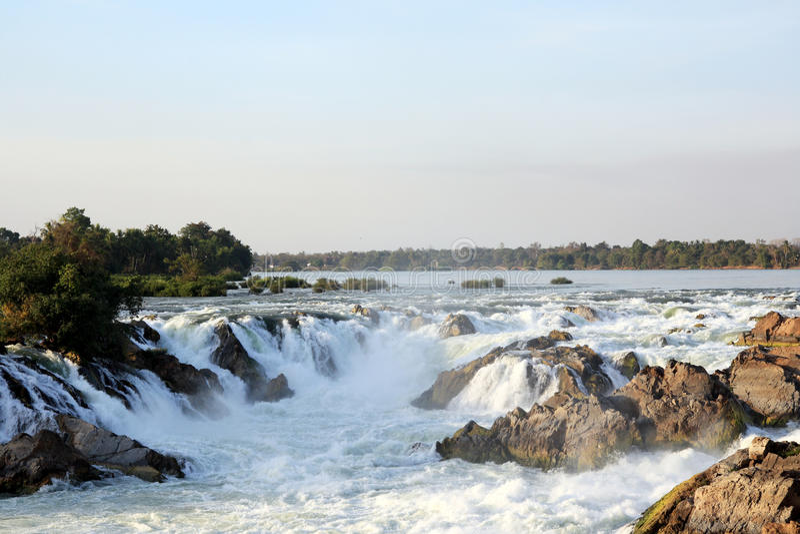 De dalingen van Khonephapheng van Laos royalty-vrije stock afbeelding
