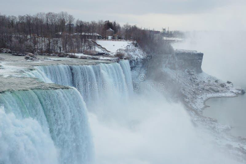 De dalingen van Niagara in de winter royalty-vrije stock foto
