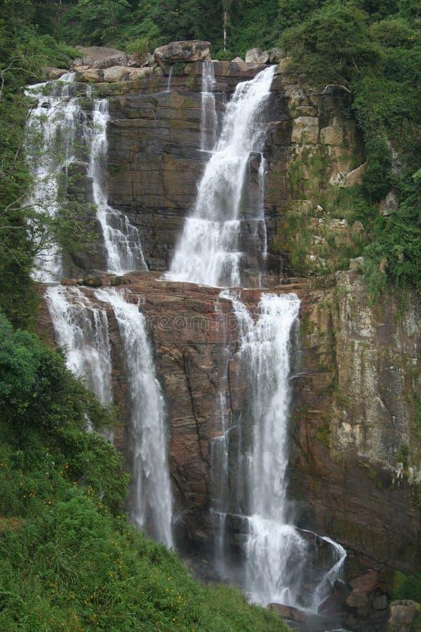 De dalingen van Ramboda, Ceylon stock foto's