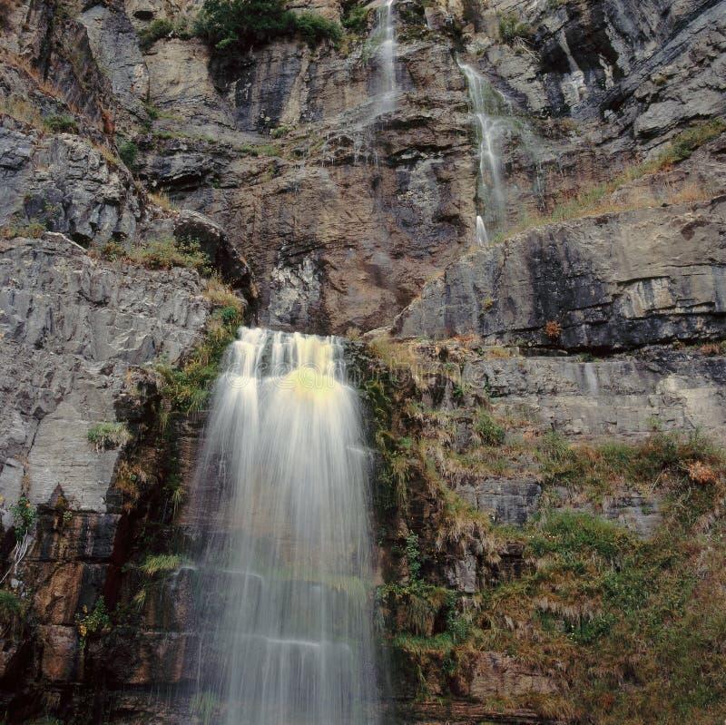 De dalingen van Stewart, zetten Timpanogos-Wildernis, Wasatch-Waaier, Utah op stock fotografie