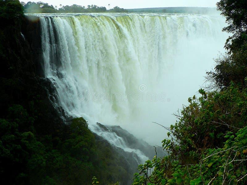 De dalingen van Victoria, zambezi rivier, Zimbabwe royalty-vrije stock foto