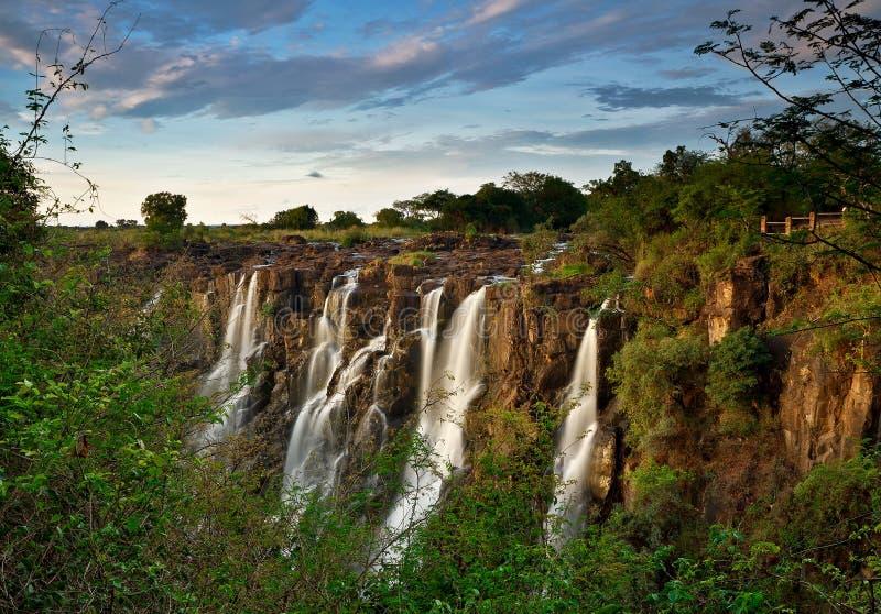 De Dalingen van Victoria, Zambia stock afbeeldingen
