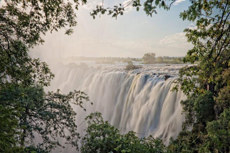 De Dalingen van Victoria, Zambia royalty-vrije stock foto