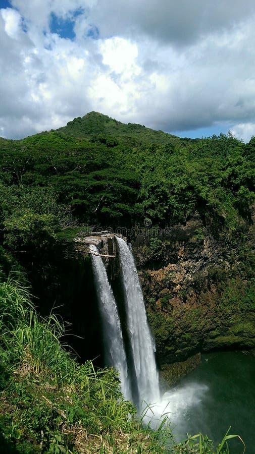 De Dalingen van Wailua stock fotografie