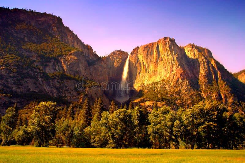 De Dalingen van Yosemite, Nationaal Park Yosemite stock fotografie