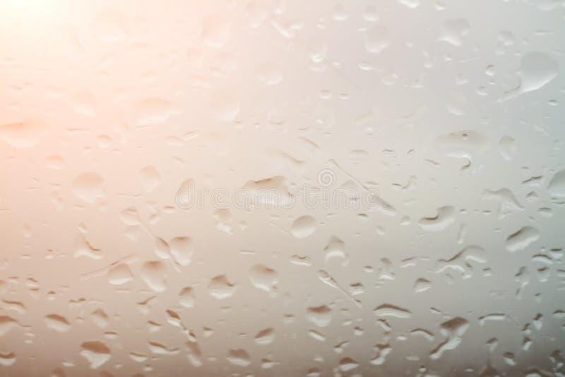 De dalingenachtergrond van het vensterswater royalty-vrije stock foto