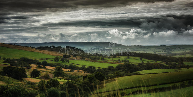 De Dallen van plattelandsyorkshire in Yorkshire, Engeland het UK stock afbeelding