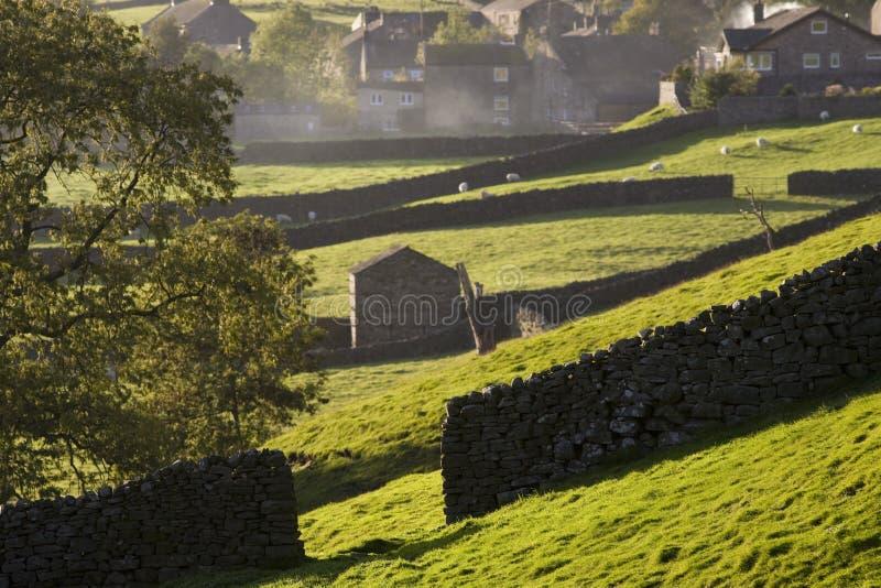 De Dallen Yorkshire Engeland van dorpsyorkshire stock afbeeldingen