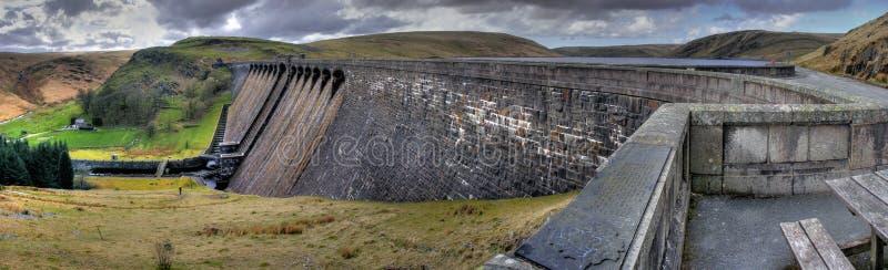 De Dam van Claerwen - Elan Vallei stock foto's
