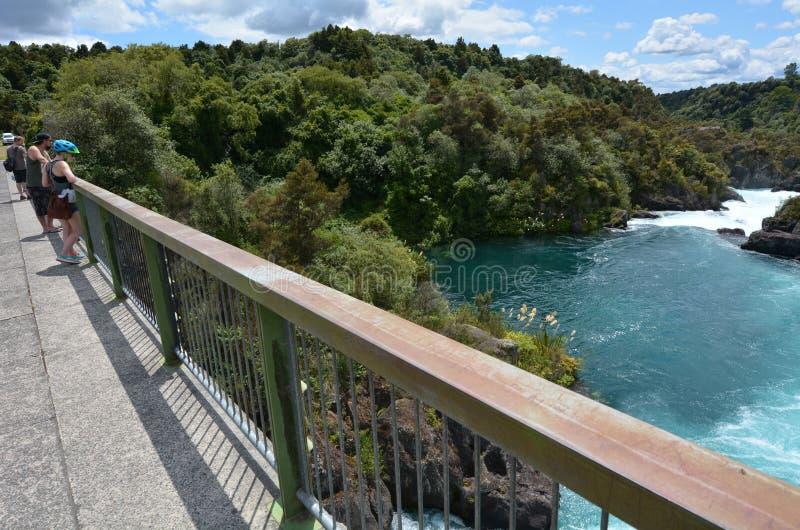 De Dam van de Aratiatiastroomversnelling dichtbij Taupo - Nieuw Zeeland stock afbeelding