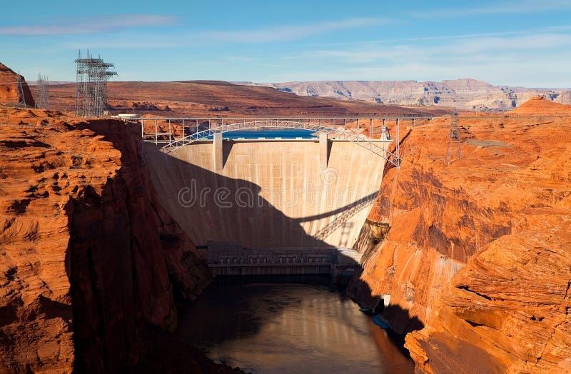 De Dam van de Canion van de nauwe vallei royalty-vrije stock foto