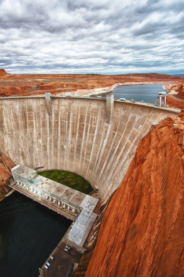De Dam van de nauwe vallei in Pagina, Arizona stock foto's