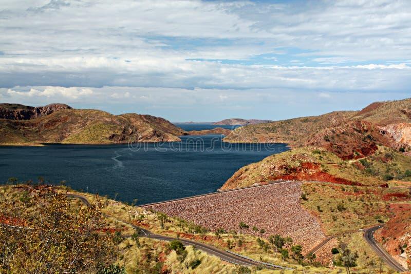 De Dam van de Rivier van Ord stock afbeelding