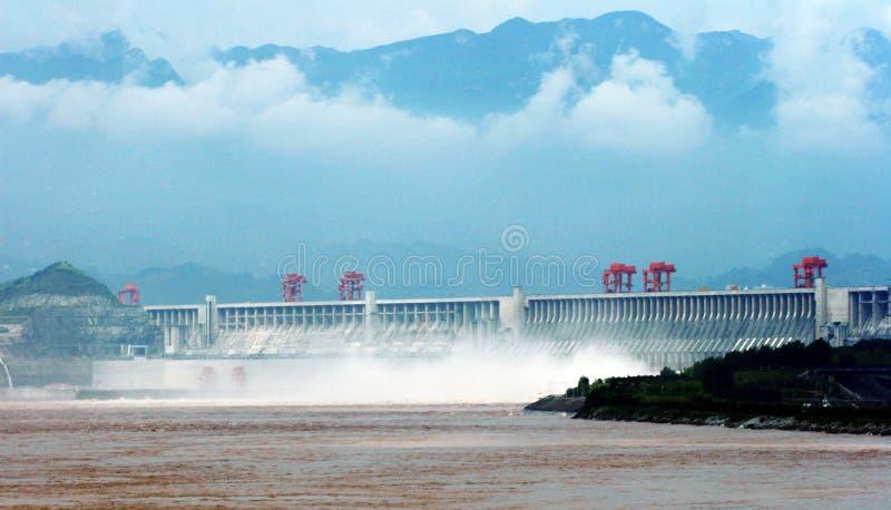 De Dam van drie Kloven stock fotografie