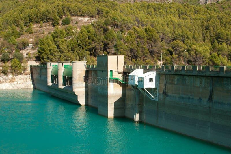 De dam van het reservoir royalty-vrije stock foto