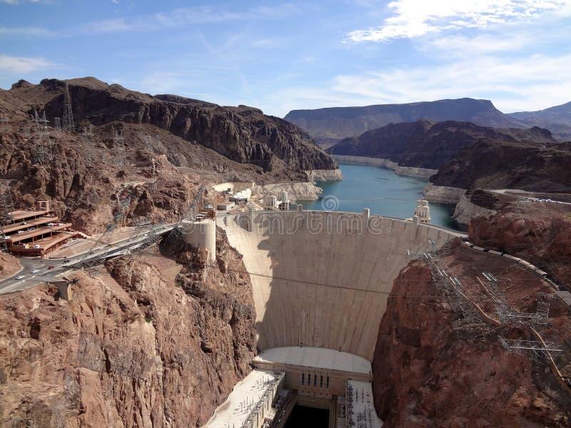 De Dam van Hoover en de Rivier van Colorado stock afbeelding