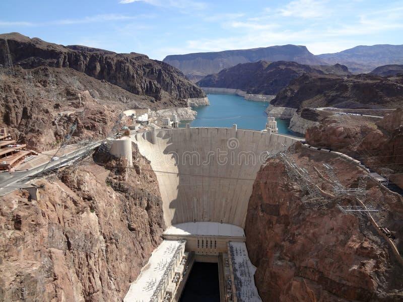 De Dam van Hoover en de Rivier van Colorado stock foto