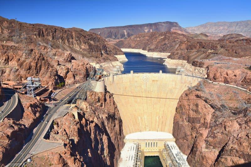De Dam van Hoover op de Rivier van Colorado royalty-vrije stock afbeelding