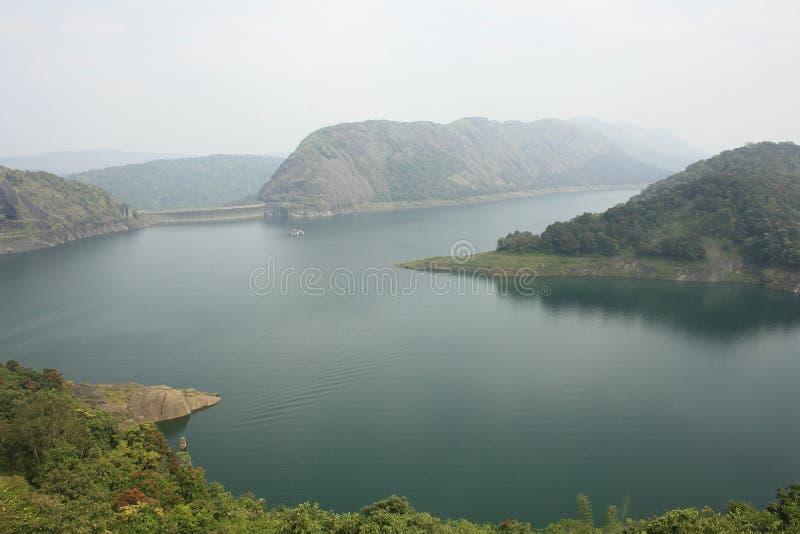 De Dam van Idukki bij Dam van de Boog van Kerala - van Azië de Grootste royalty-vrije stock foto's