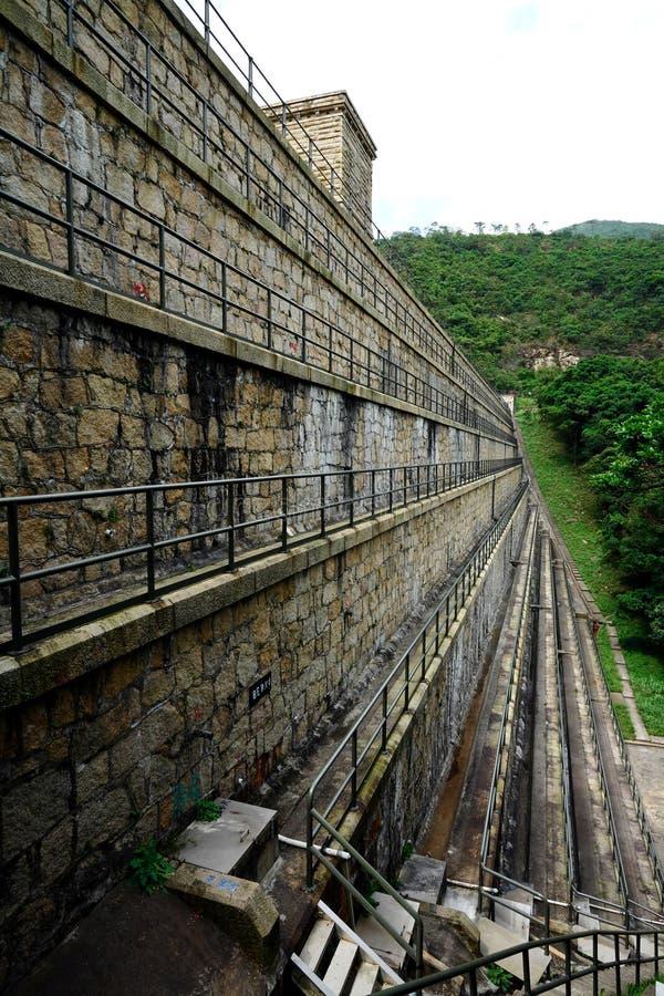 De dam van reservoirs royalty-vrije stock foto's