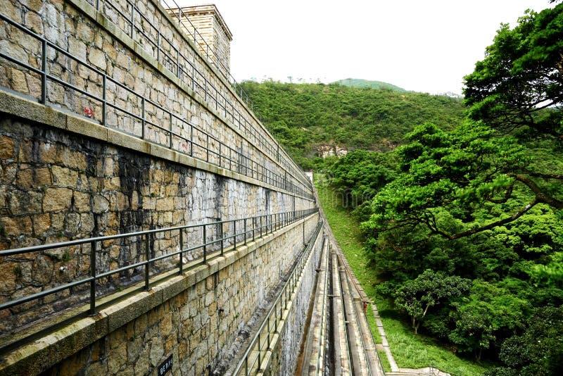 De dam van reservoirs stock afbeeldingen