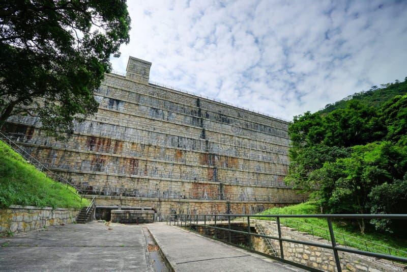 De dam van reservoirs royalty-vrije stock fotografie