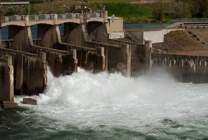 De Dam van Upriver, Spokane, Washington stock afbeelding