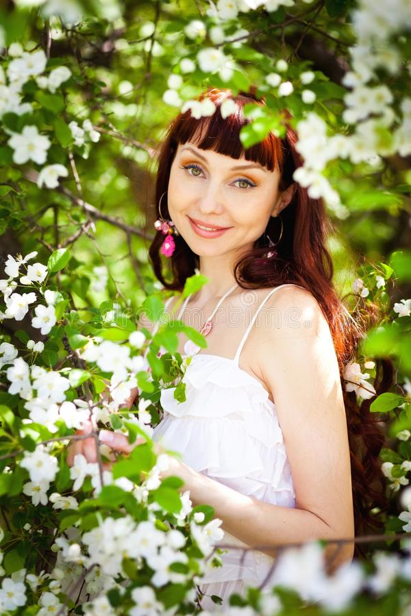 De dame Spring royalty-vrije stock foto's