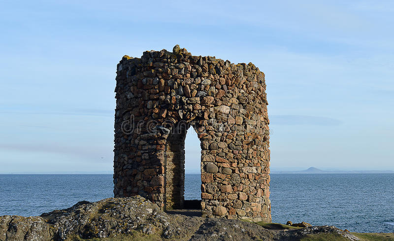 De Dame Tower, Elie, Fife, Schotland royalty-vrije stock fotografie