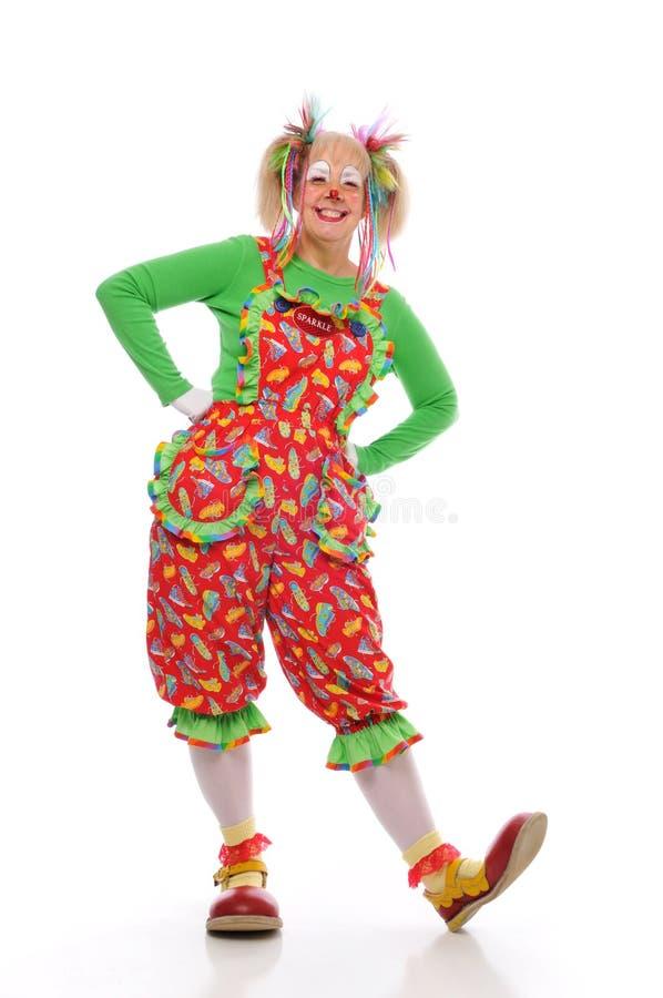 De dame van de clown stock afbeelding