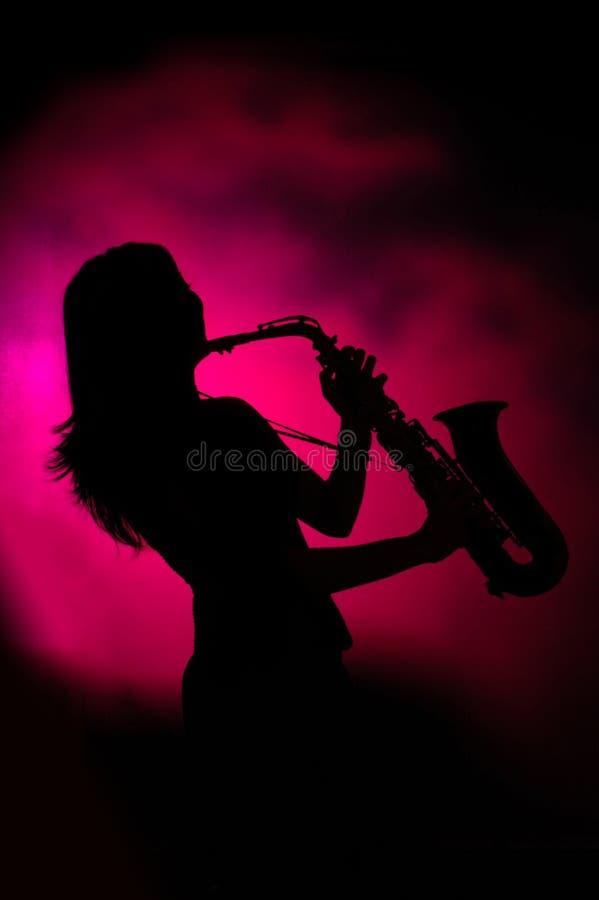 De dame van de jazz royalty-vrije stock afbeeldingen