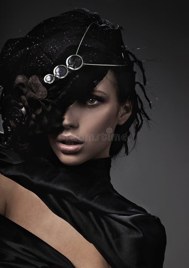 De dame van de manier royalty-vrije stock afbeeldingen