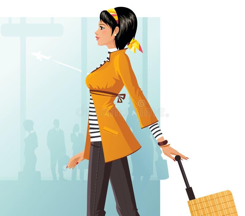 De dame van de reis vector illustratie