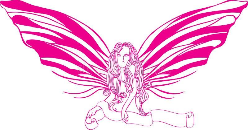 De dame van de vlinder stock illustratie