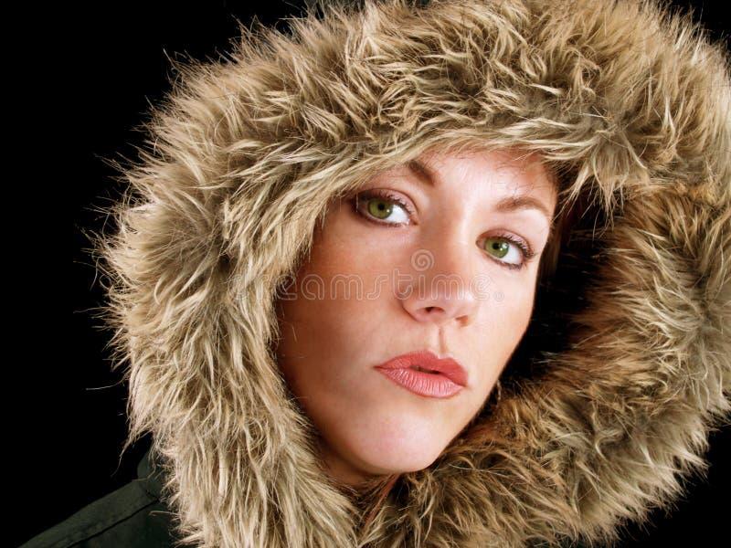 De Dame van de winter stock afbeeldingen
