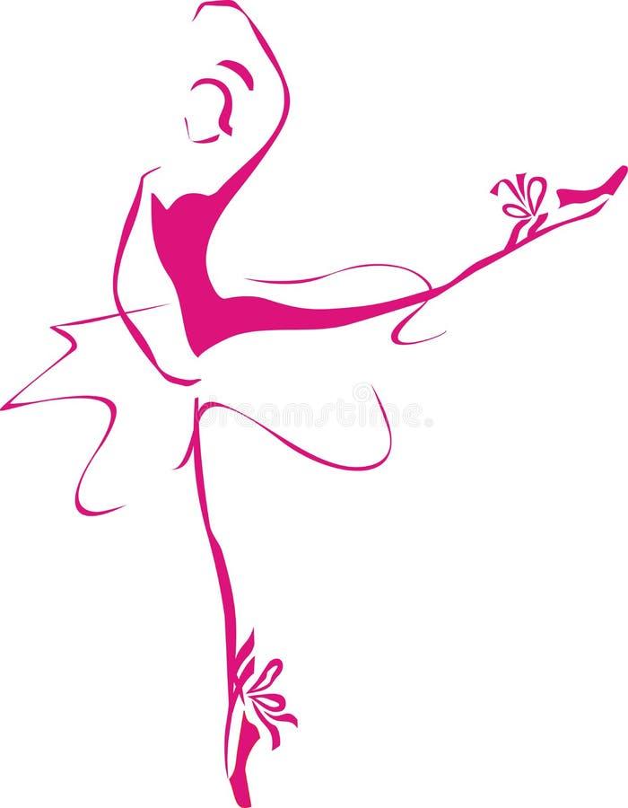 De dame van het ballet royalty-vrije illustratie