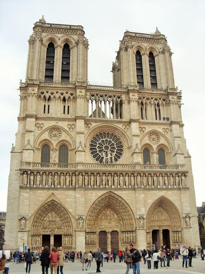 De dame van Notre in Parijs royalty-vrije stock fotografie