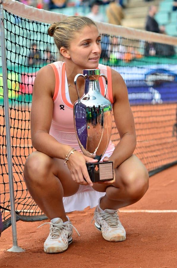 De Dames van Barcelona openen 2012 - Winnaar royalty-vrije stock afbeelding