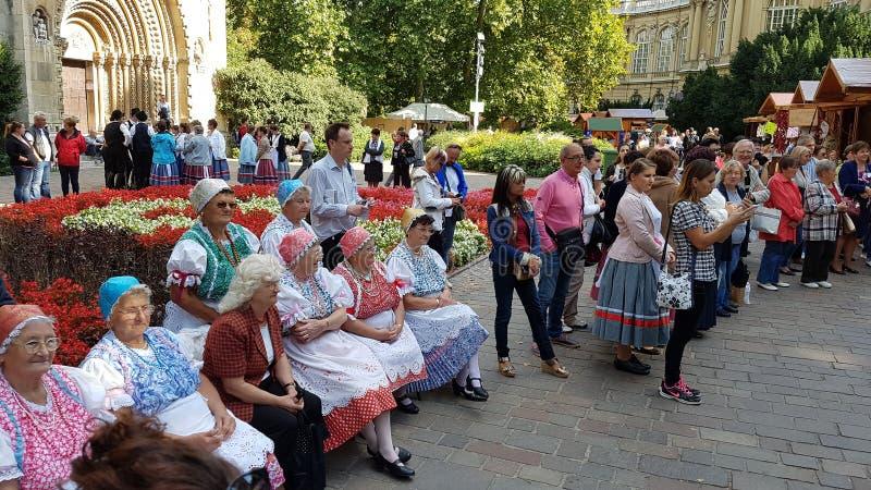 De dames van Boedapest stock foto's