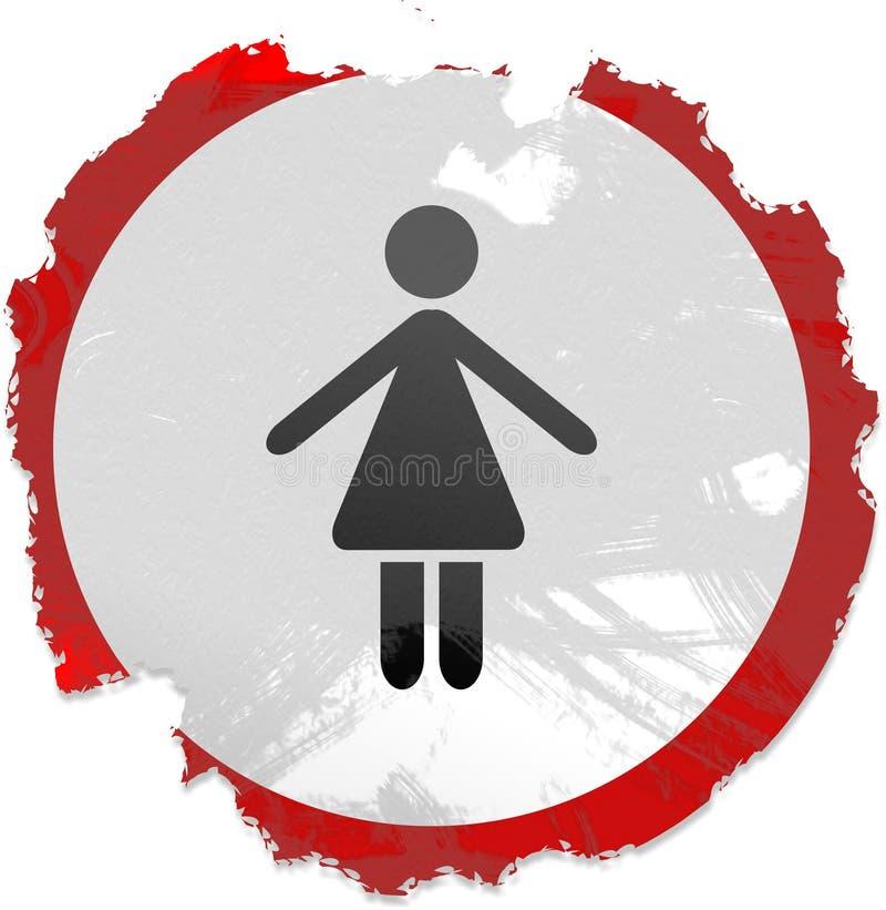 De dames van Grunge ondertekenen vector illustratie