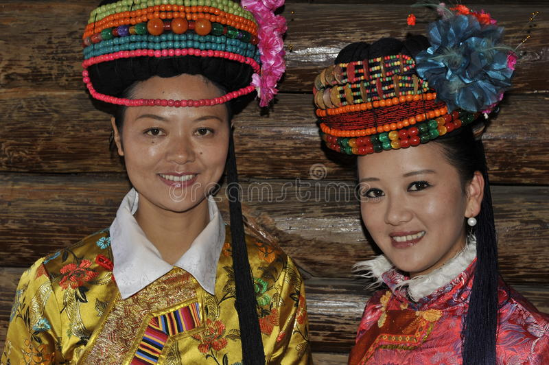 De Dames van Mosuo, China stock foto's