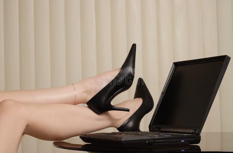 De damewerkgever royalty-vrije stock afbeeldingen