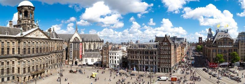 De Damvierkant van Amsterdam royalty-vrije stock fotografie